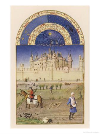 October Peasants Sow Next Year's Crops Within Sight of the Palais Du Louvre Paris
