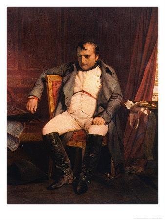 Napoleon Emperor Defeated at Fontainebleau 1814