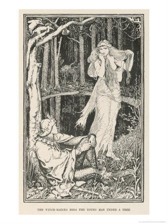 The Witch-Maiden Sees the Young Man Under a Tree