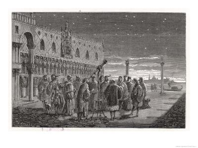 Galileo Shows the Satellites of Jupiter to Venetian Senators