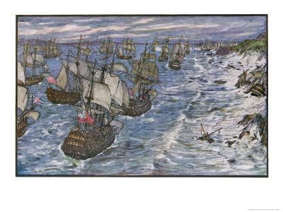 Battle of Quiberon Bay Hawke Drives a French Fleet Under Conflans into Quiberon Bay