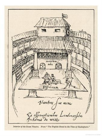 Sketch of the Swan Theatre in London