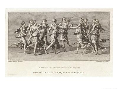 He Dances with His Friends the Nine Muses