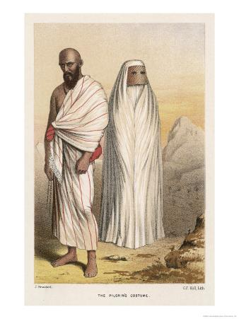 Male and Female Pilgrims in the Approved Costume for Making the Pilgrimage to Mecca