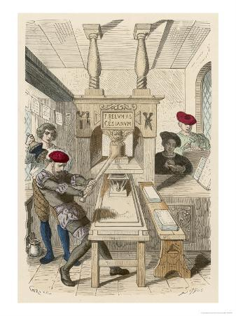 French Printing Press of the 15th Century