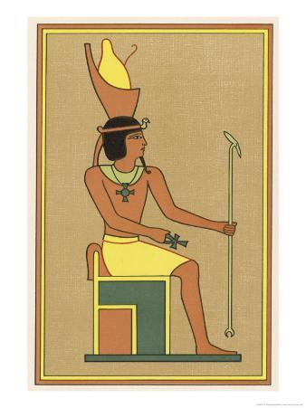 Khonsu is Worshipped Under Many Names: Here He is Depicted as Nefer-Hetep Holding an Ankh