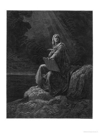 Saint John on the Greek Island of Patmos Receives His Revelation of Things