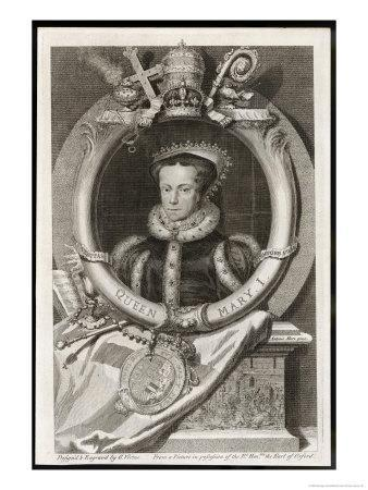 Mary Tudor Catholic Queen of England with the Motto Truth is the Daughter of Time