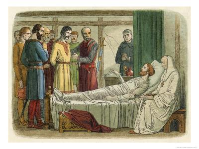 Richard I While Lying on His Deathbed Forgives His Slayer Who is Brought Before Him