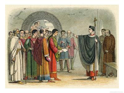 Thomas Becket Refuses to Seal the Constitutions of Claredon