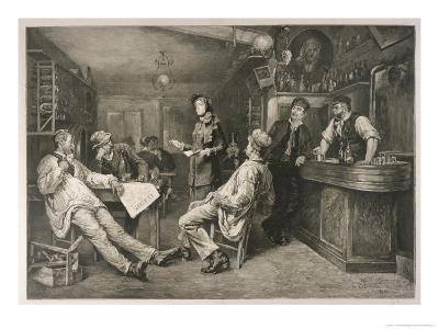 Brave English Salvationist Preaches to the Clientele of a Swiss Tavern