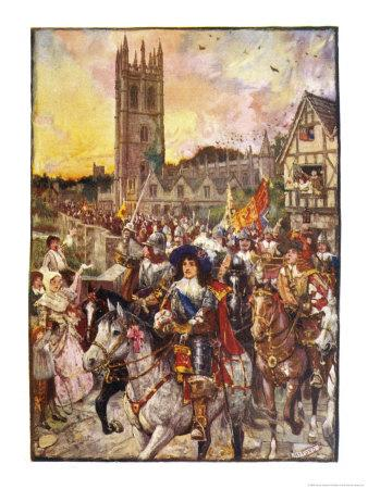 Prince Rupert and His Troops March Confidently Through Oxford
