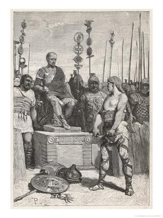 The Leader of the Gauls Vercingetorix Lays His Arms Before Caesar