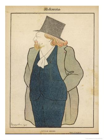 Catulle Mendes French Writer in His Hat and Coat