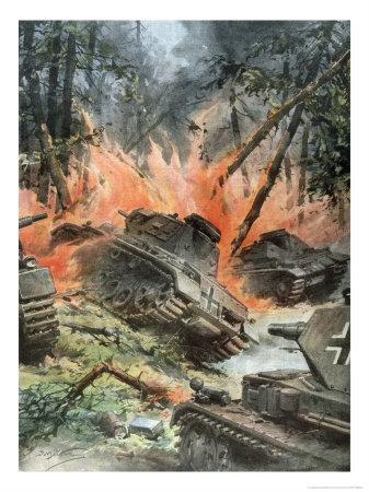 Tank Battle in the Forests of Leningrad