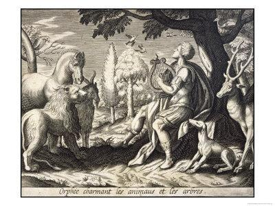 Orpheus Enchants the Animals and Trees with His Music