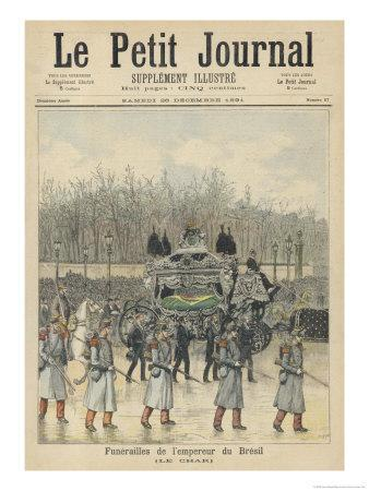 The Funeral Cortege of the Dethroned Pedro II of Brazil in Paris France