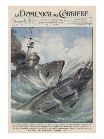 An Italian Torpedo Boat Heroically Rams and Sinks a British Submarine