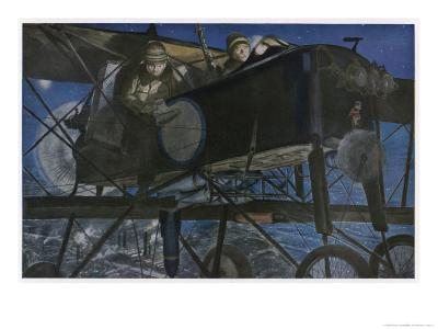 """French """"Voisin"""" Bomber Carries out a Night Raid"""