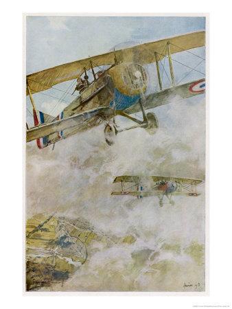 French Spad Aircraft on Patrol