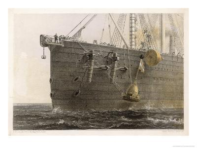 "When the Cable Breaks in Mid- Ocean a Buoy is Launched from the ""Great Eastern"" to Mark the Spot"