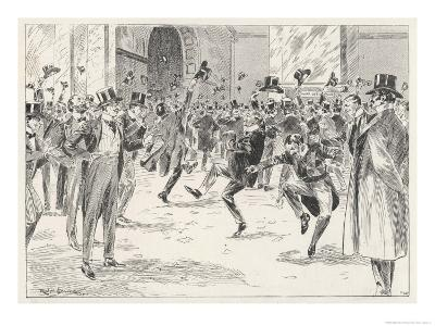 Stockbrokers Dance for Joy at News of the Boers' Surrender in the War in Africa