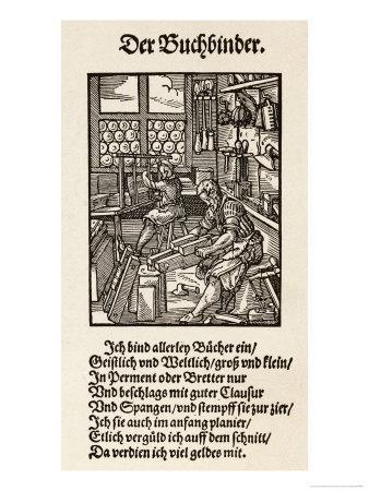 Interior of a German Book- Binding Workshop
