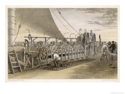 The Paying-Out Machinery on the Deck of the Great Eastern