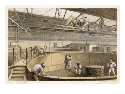 At Greenwich the Cable is Carefully Coiled in Tanks Before Loading Aboard the Great Eastern