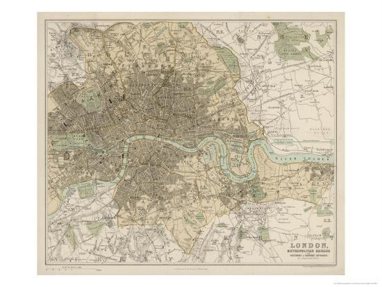 London Map Suburbs.Map Of London And Its Suburbs