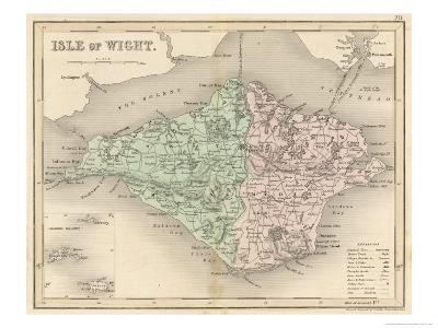Map of the Isle of Wight