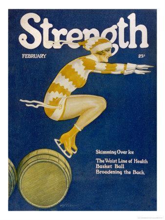 Strength: Girl Ice Skating over Barrels