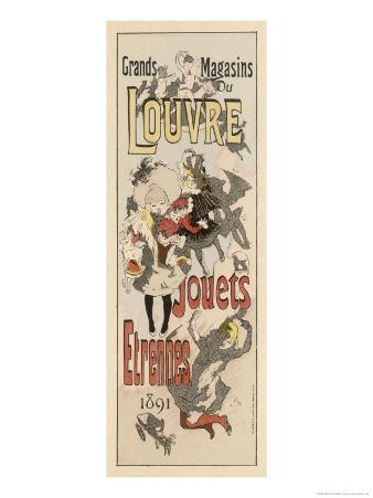 Poster Advertising Toys for Sale at the Grands Magasins Du Louvre Paris