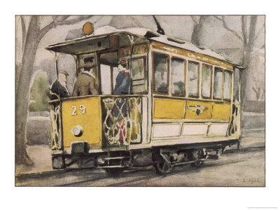 Tram on the Clagny-Versailles Line Paris Suburbs