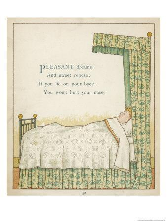 Pleasant Dreams and Sweet Repose if You Lie on Your Back You Won't Hurt Your Nose