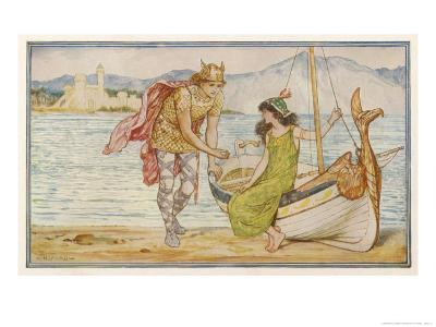"""""""The Horse and the Sword"""" Sigurd Gives the Ring to Helga, an Icelandic Tale"""