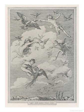 Peter Pan, The Children Snatch Food from the Mouth of Birds as They Fly