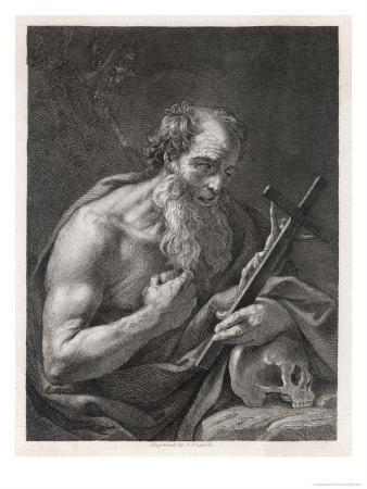 Saint Jerome Contemplates the Image of Jesus on the Cross