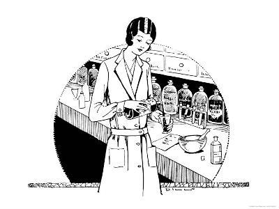 Pharmacist in the Dispensary
