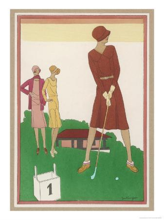 Ladies on a Golf Course