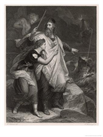 The Tempest, Prospero and Miranda Watch the Shipwreck