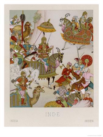 Babur Mughal Emperor of India 1526-1530 Depicted Invading Persia