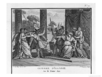 Teuta Queen of the Illyrians Orders the Roman Ambassadors to be Killed