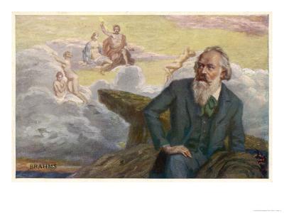 Johannes Brahms German Musician Composing His Symphony No. 1
