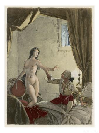 Giovanni Giacomo Casanova Italian Adventurer with His Belle Religieuse