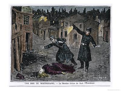 The Discovery of One of the Victims of the Whitechapel Murders