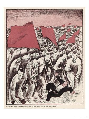 The Advance of Socialism: a Crowd Tramples a Bourgeois