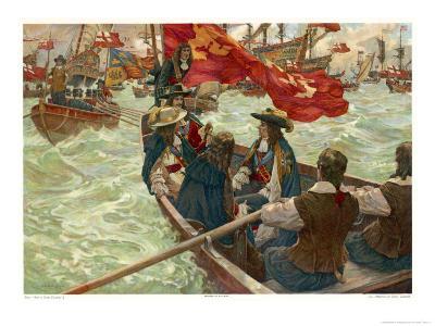 The Restoration Charles II Lands at Dover