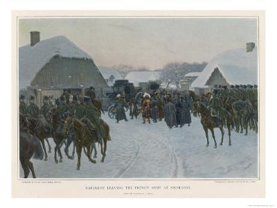 Napoleon Deserts the Grand Army at Smorgoni and Returns to Paris