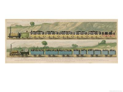 Liverpool-Manchester Railway, Two Passenger Trains with Closed Carriages